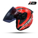 Index Pure Open face Free Size Helmet - Red